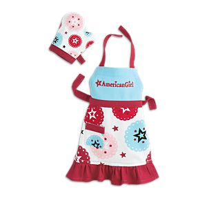 American Girl for Williams-Sonoma Apron & Mitt for 18-inch Dolls