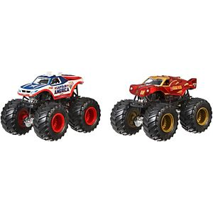 Hot Wheels® Monster Jam® Captain America™ vs Iron Man™