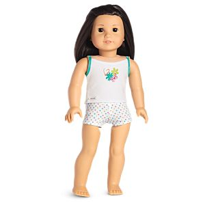 Flowers and Dots Tank & Brief Set for 18-inch Dolls