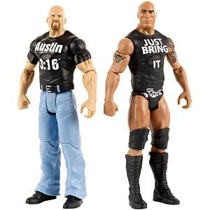 WWE® Tough Talkers™ The Rock® & Stone Cold Steve Austin® 2-Pack