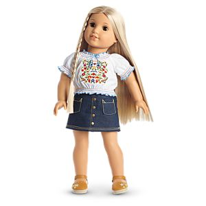 Julie's Peasant Top Outfit for 18-inch Dolls