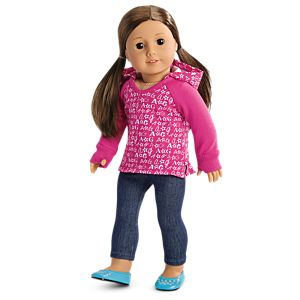 V-Neck Hoodie for 18-inch Dolls