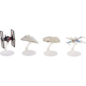 Hot Wheels Star Wars Rogue One First Order Special Forces Starship, 4-pack