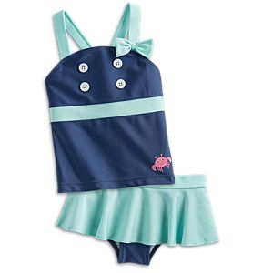 Seaside Fun Swimsuit for Little Girls