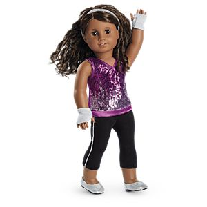 Gabriela's Sparkling Sequins Outfit for 18-inch Dolls