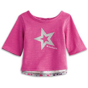 Sparkle Star Cutaway Tee for 18-inch Dolls