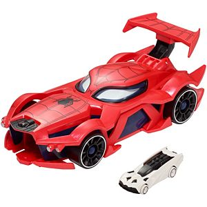 marvel hot wheels spider man web car launcher