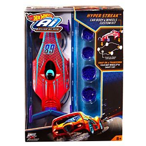 Hot Wheels® Ai Hyper Streak™ Car Body & Wheels Custom Kit