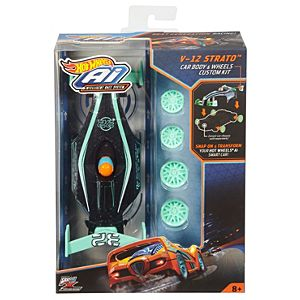 Hot Wheels® Ai V-12 Strato™ Car Body & Wheels Custom Kit
