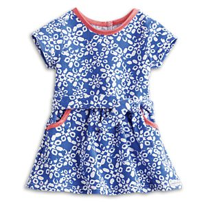 Print Corduroy Dress for 18-inch Dolls