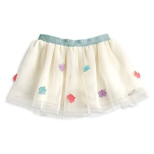 Mesh Flower Skirt for 18-inch Dolls