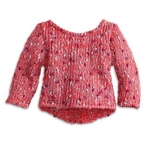 Mixed-Knit Sweater for 18-inch Dolls