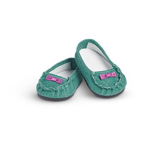 Teal Moccasins for 18-inch Dolls