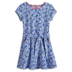 Print Corduroy Dress for Girls
