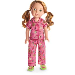 Enchanted Garden PJs for WellieWishers Dolls
