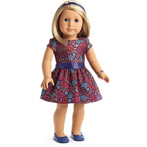 Fancy Holiday Dress for 18-inch Dolls