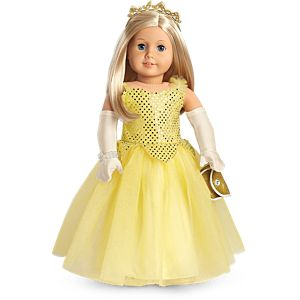 Shimmering Ballroom Gown for 18-inch Dolls