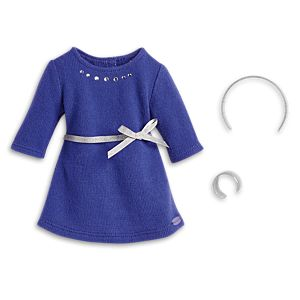 Blue Rhinestone Studded Dress for 18-inch Dolls