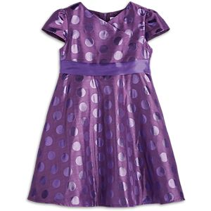Polka Dot Holiday Dress for Little Girls