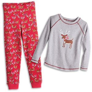 Festive Reindeer PJs for Little Girls