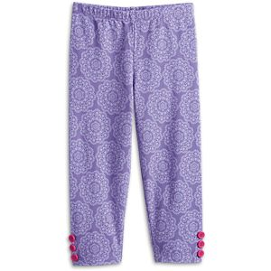 Playful Floral Leggings for Little Girls