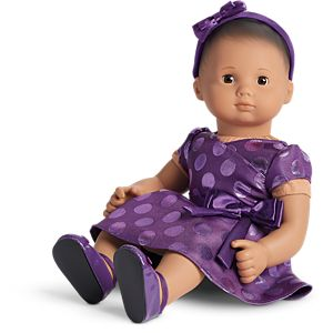 Polka Dot Holiday Dress for Bitty Baby Dolls
