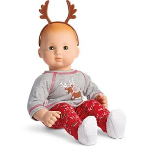 Festive Reindeer PJs for Bitty Baby Dolls
