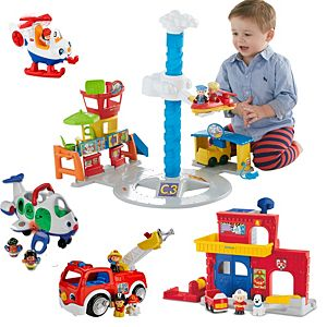 Little People Firestation & Airport Gift Set