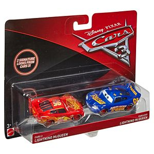 Disney•Pixar Cars 3 Lightning McQueen & Fabulous Lightning McQueen Die-Cast 2-Pack