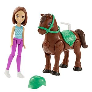 Barbie® On The Go™ Brown Pony and Doll