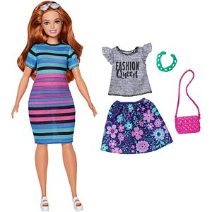 Barbie® Fashionistas® Doll 85 Happy Hued Doll & Fashions – Curvy