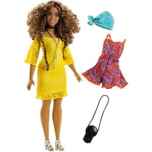 Barbie® Fashionistas® Doll 86 Glam Boho Doll & Fashions – Curvy