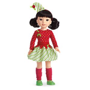 Elf Outfit for WellieWishers Dolls