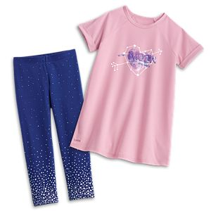 Comfy Space PJs for Girls