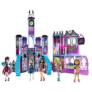 Monster High High School & Dance the Fright Away Doll Gift Set