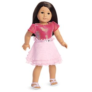 Pink Ruffles Outfit for 18-inch Dolls