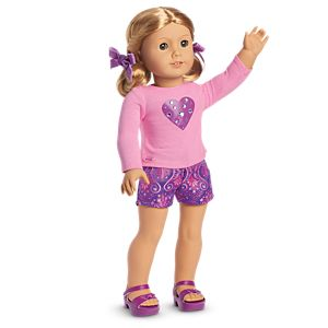 Sparkling Hearts Outfit for 18-inch Dolls