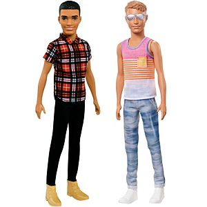 Ken® Fashionistas® Slim Doll 2-Pack Gift Set