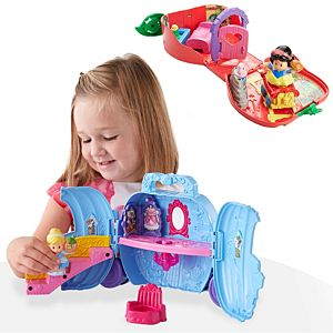 Disney Princess Fold 'N Go Gift Set by Little People®