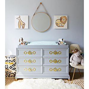 Deluxe 6 Drawer Double Dresser