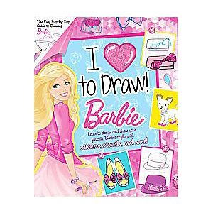 I Love to Draw Barbie (Paperback)