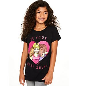 Barbie Girls' Short Sleeve Graphic Tee