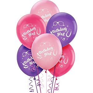 Happy Birthday Barbie Balloons 6ct