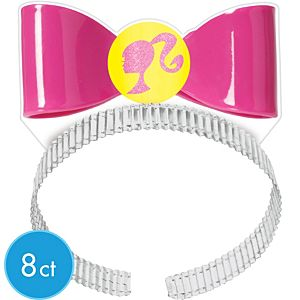 Barbie Bow Headbands 8ct