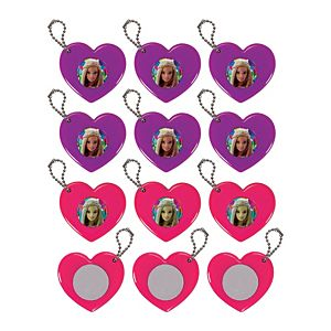 Barbie Heart Mirror Keychains 12ct