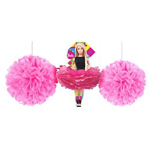 Barbie Fluffy Decorations 3ct