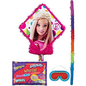 Pull String Sparkle Barbie Pinata Kit