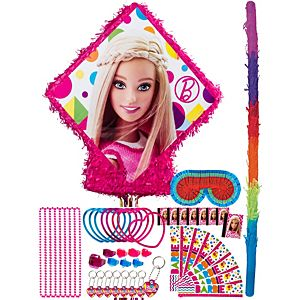 Pull String Sparkle Barbie Pinata Kit with Favors