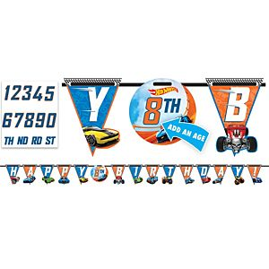 Hot Wheels Birthday Banner Kit