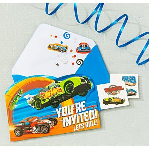 Hot Wheels Invitation Kit
